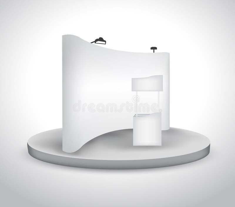 空白展览会摊 向量例证