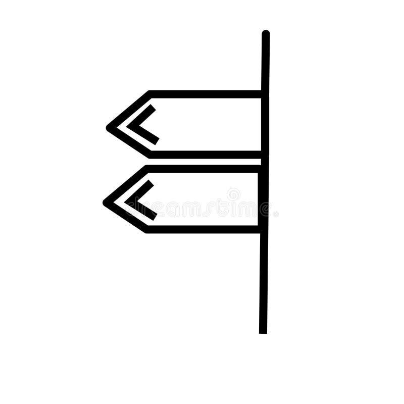 空白左箭象传染媒介标志,并且在白色背景隔绝的标志,空白左箭商标概念 皇族释放例证