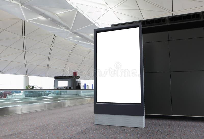 空白广告牌在机场 库存图片