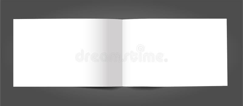 空白开放杂志编目小册子大模型盖子模板 库存例证