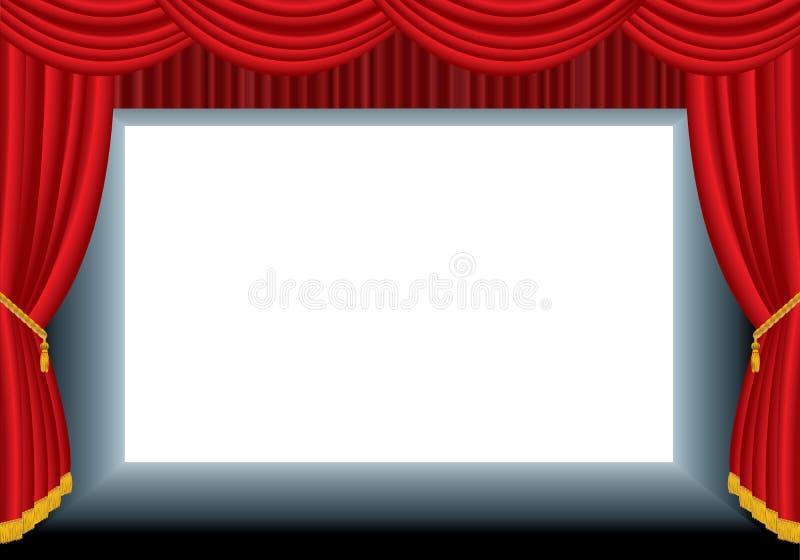 空白戏院 库存例证