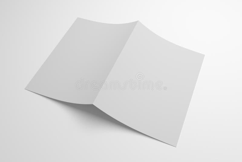 空白打开了两褶的3D例证纸陈列盖子 皇族释放例证
