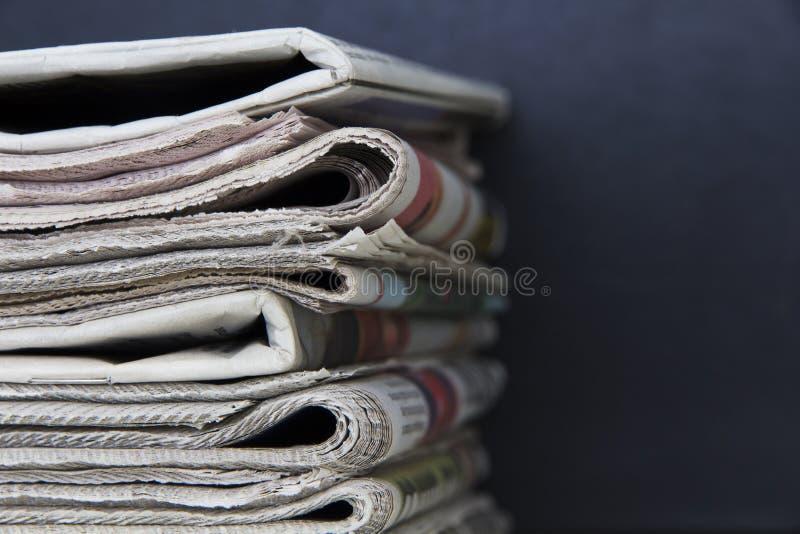 空白报纸纸叠顶部白色 免版税库存照片