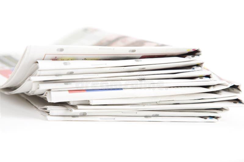 空白报纸纸叠顶部白色 图库摄影