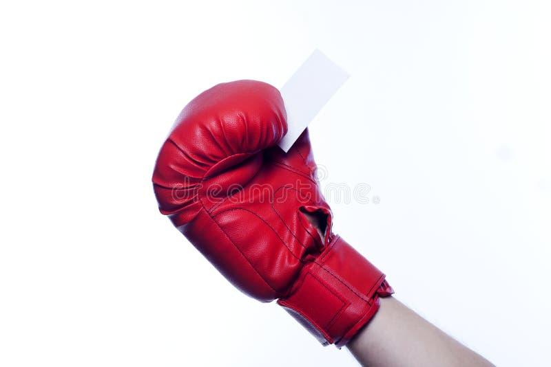空白拳击企业空手套暂挂 免版税库存照片