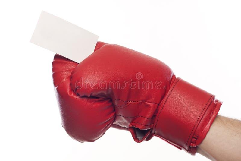 空白拳击企业空的手套 免版税库存照片