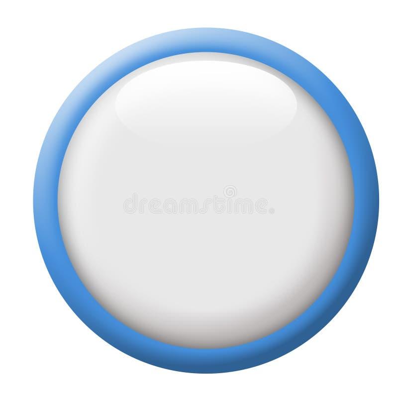 空白按钮 向量例证