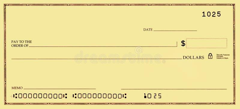 空白支票错误编号 免版税图库摄影