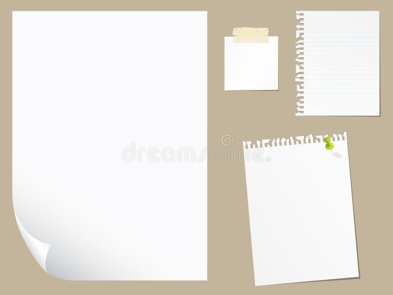 空白收集纸张 库存例证