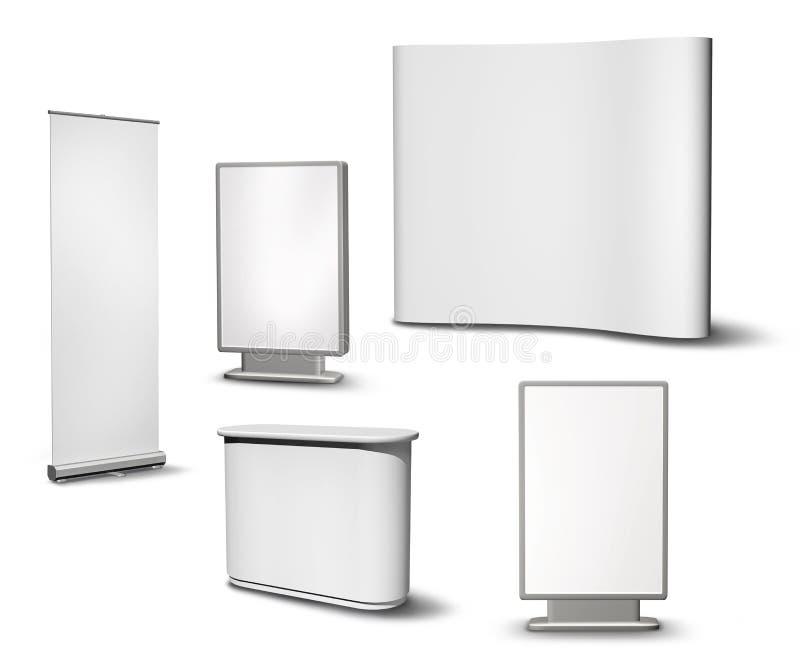 空白收集设备陈列 向量例证