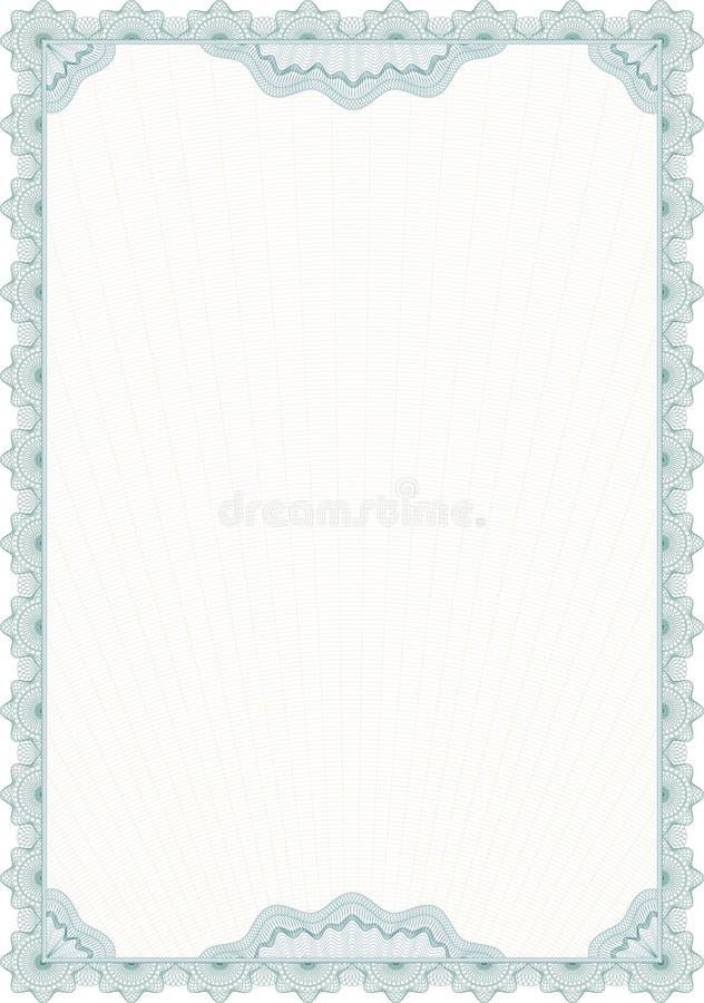 空白文凭表单扭索状装饰样式 向量例证