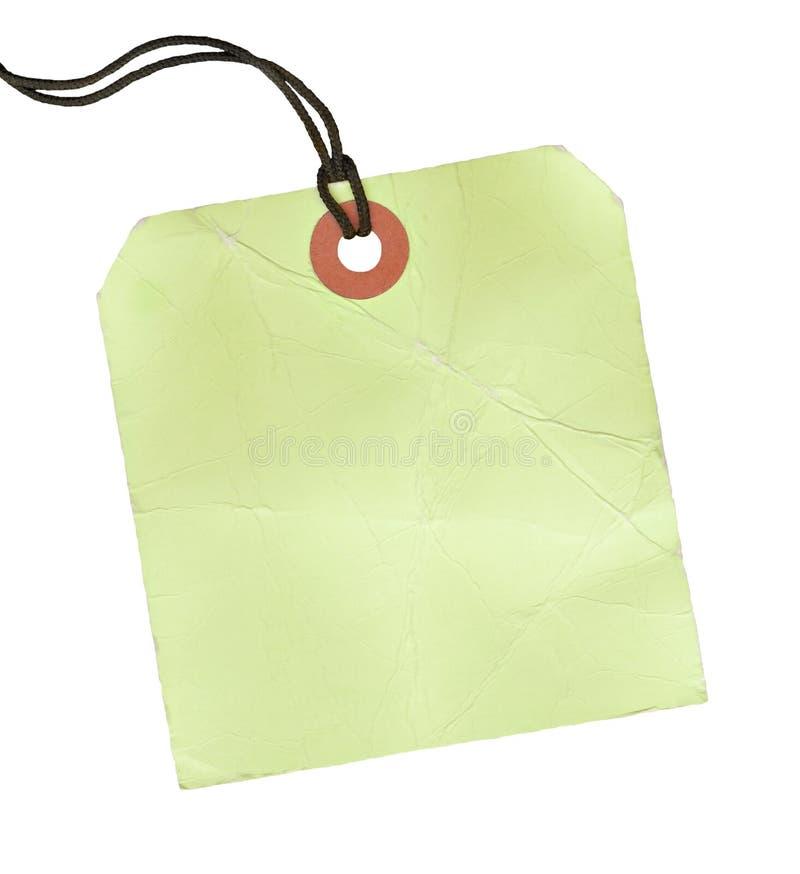 空白方形标签 库存照片