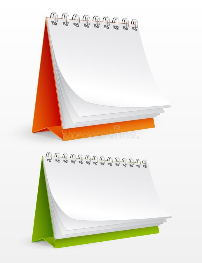 空白日历桌面查出的白色 向量例证