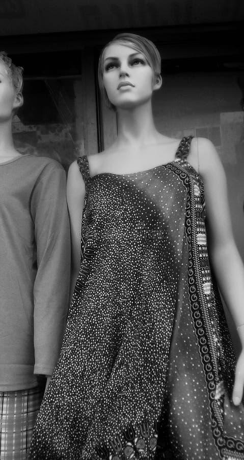 空白明亮的颜色的时装模特儿 免版税库存照片