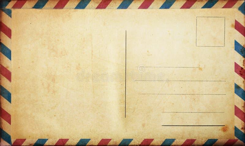 空白明信片葡萄酒 免版税库存图片