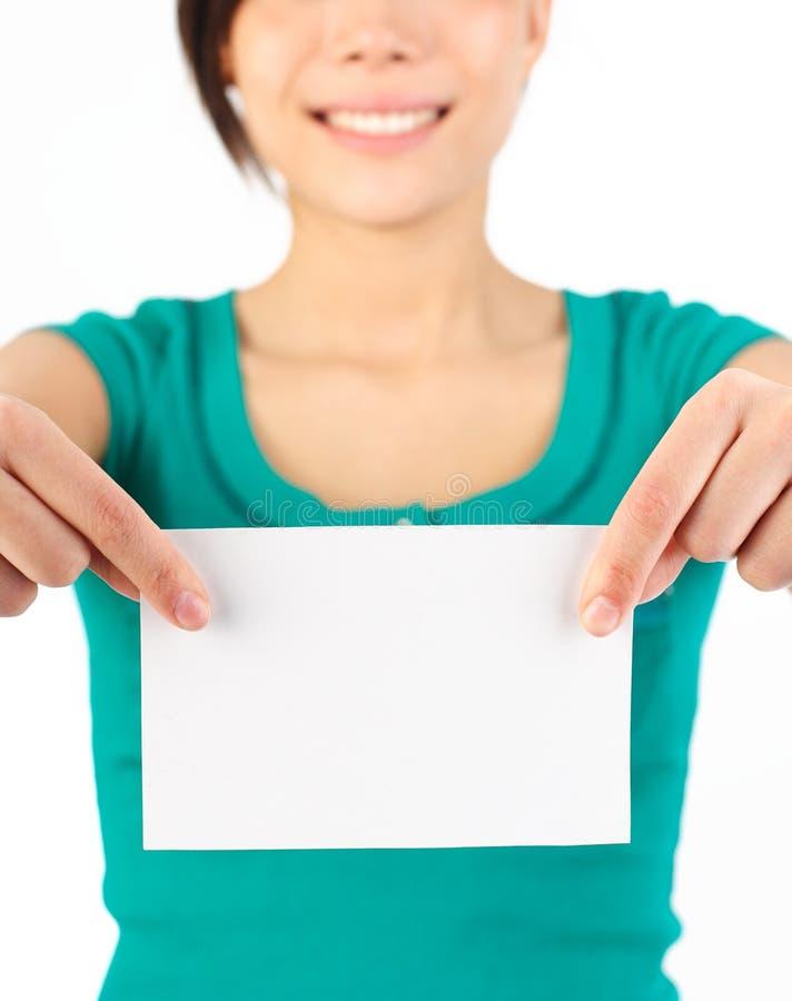 空白显示的符号妇女 免版税库存图片
