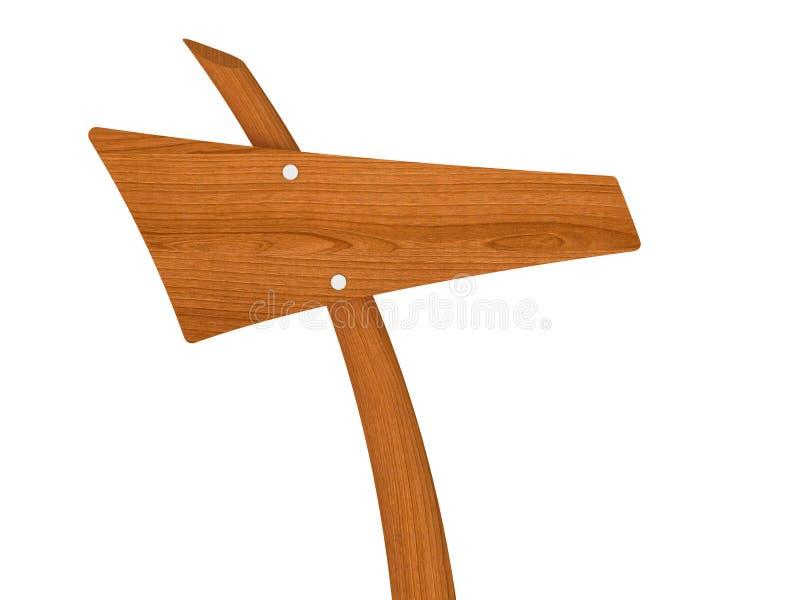 空白木方向标 免版税库存照片