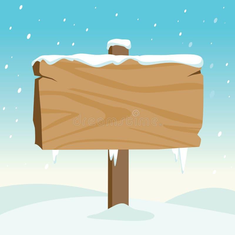 空白木签到雪 库存例证