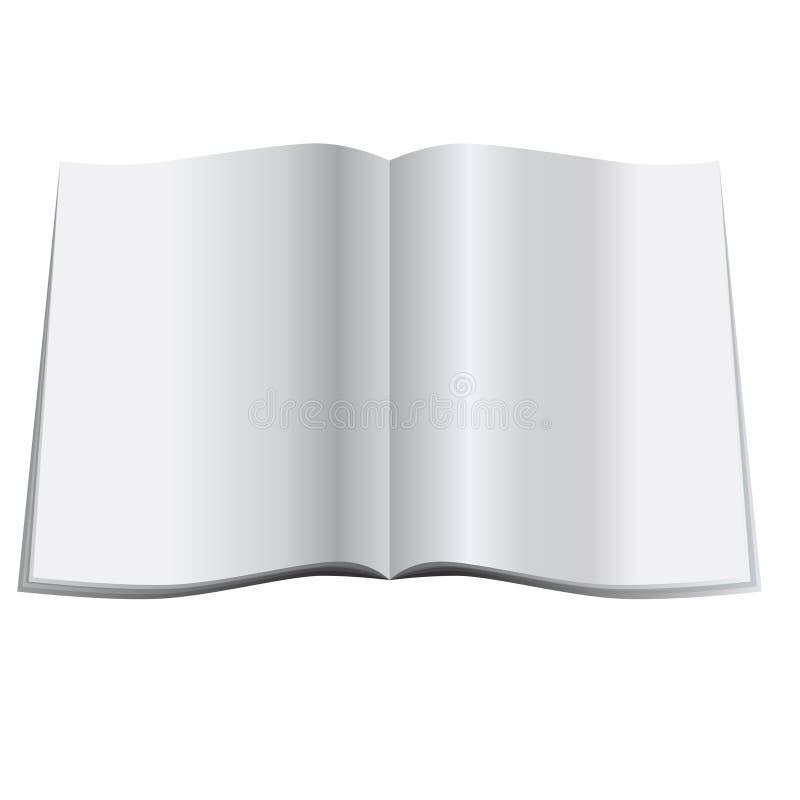 空白杂志 库存例证