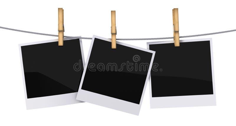 空白构成照片 库存例证