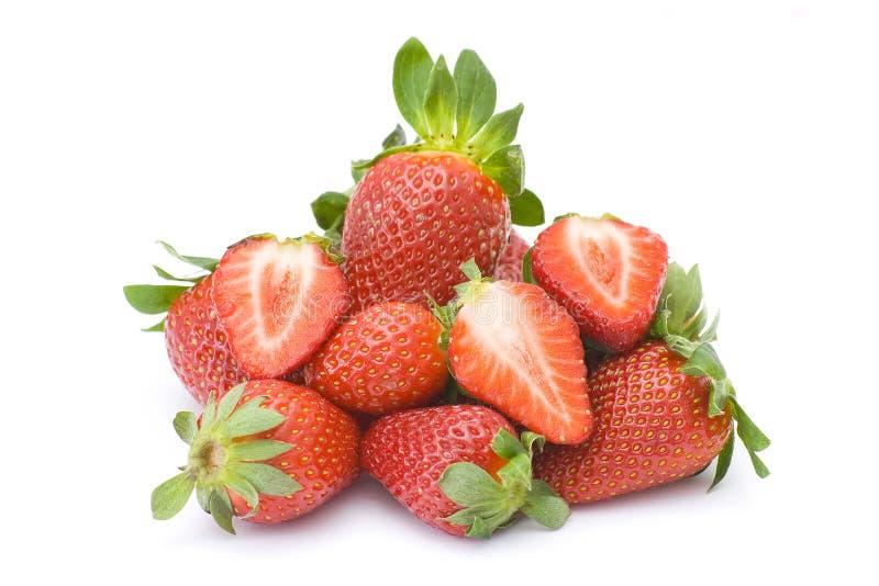 空白查出的草莓 库存照片