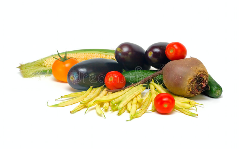 空白查出的蔬菜 免版税库存照片