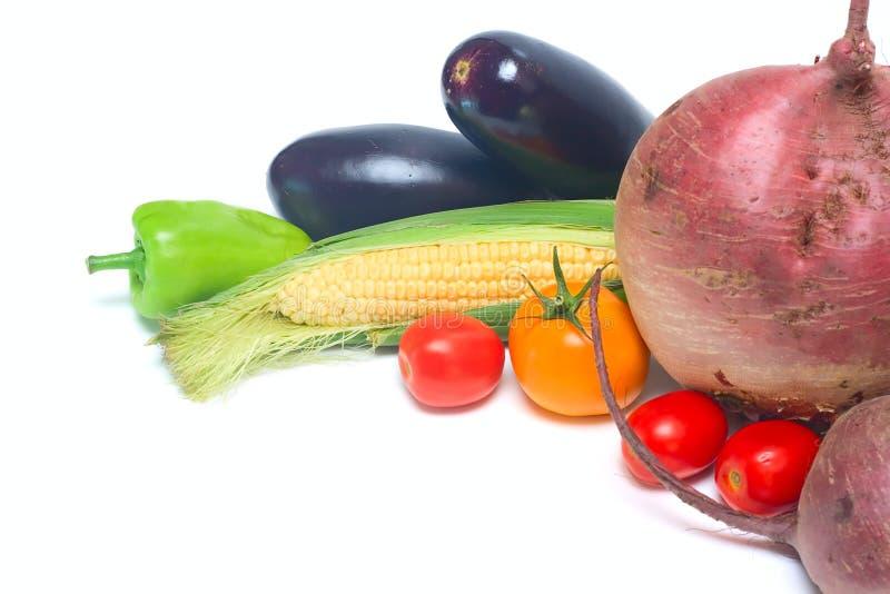 空白查出的蔬菜 免版税图库摄影