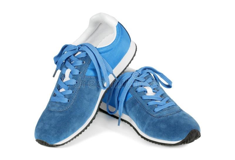 空白查出的跑鞋 库存照片