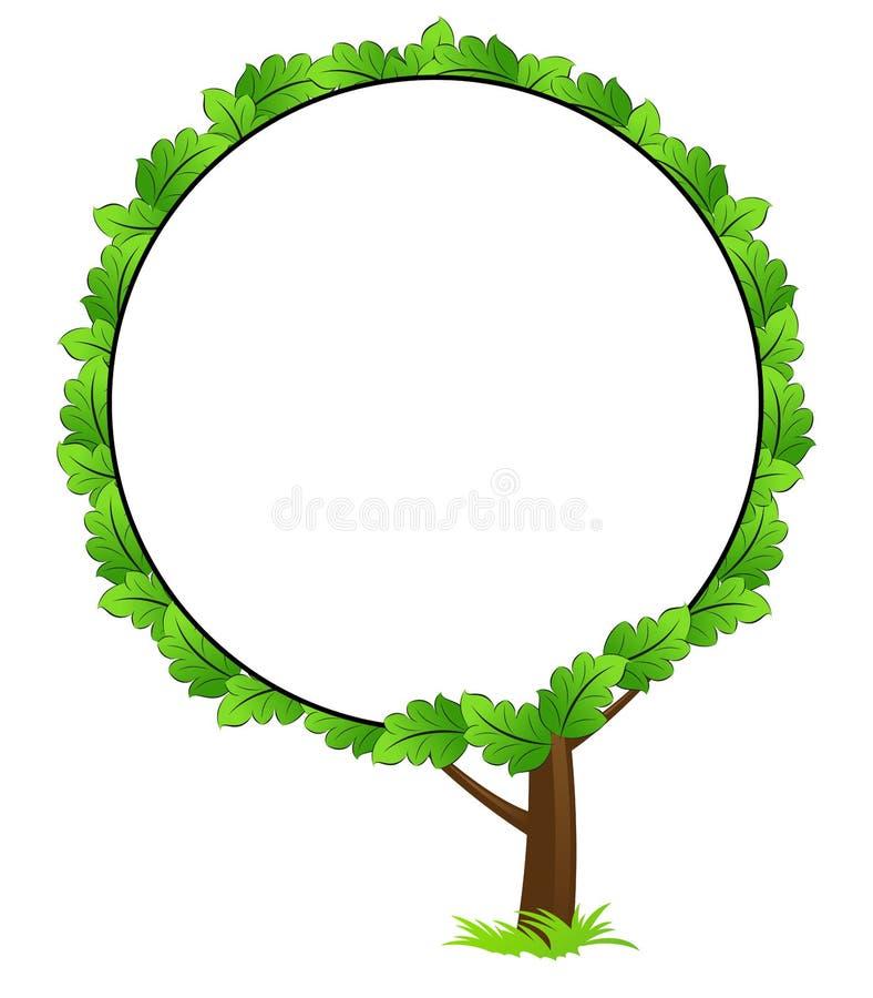 空白框架图标结构树 皇族释放例证