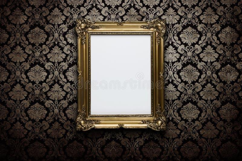 空白框架墙壁 免版税图库摄影