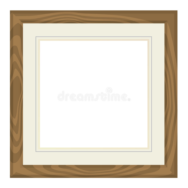 空白框架照片 向量例证