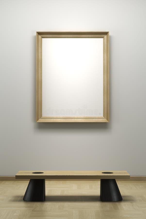 空白框架画廊 库存例证