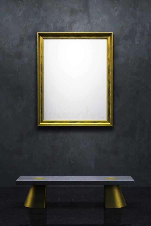 空白框架画廊 皇族释放例证
