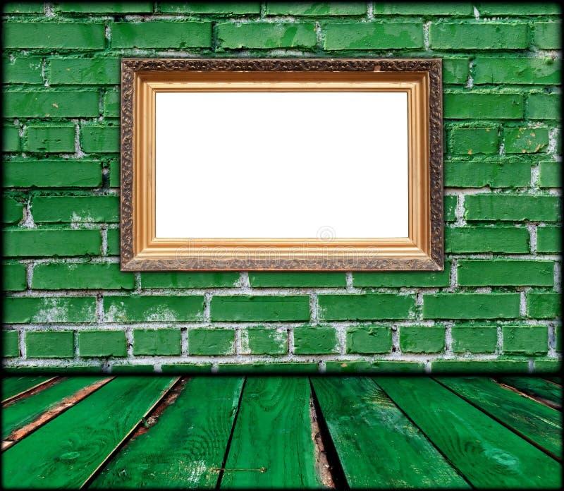 空白框架绿色空间 库存例证