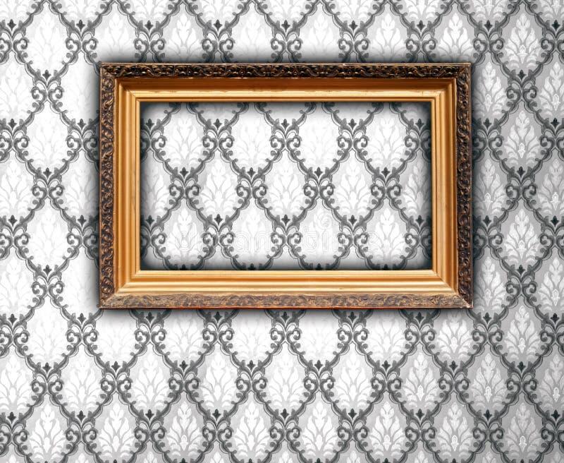 空白框架葡萄酒墙纸 免版税库存图片