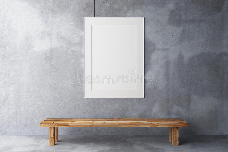 空白框架画廊 库存图片