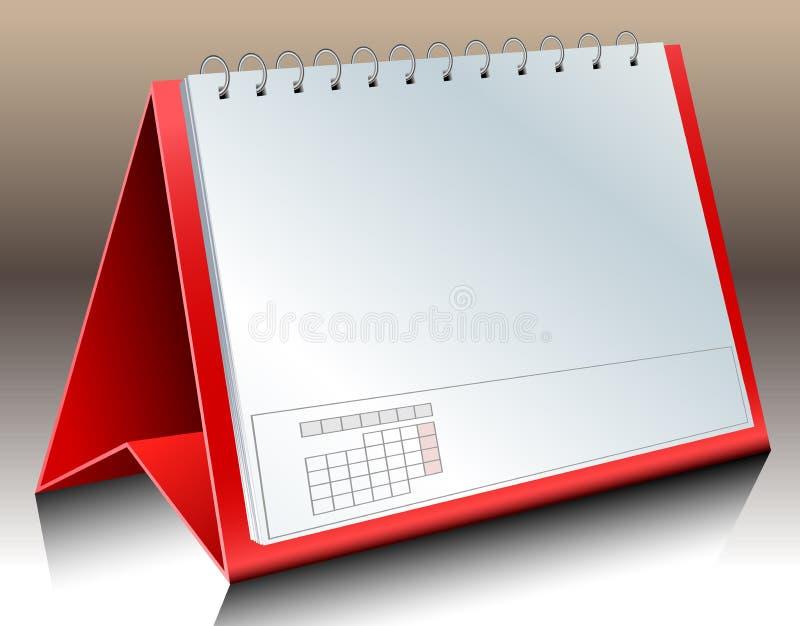 空白桌面日历 库存例证