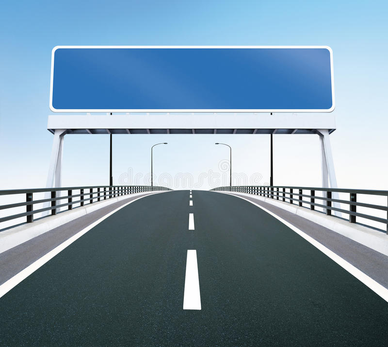 空白桥梁高速公路符号 皇族释放例证