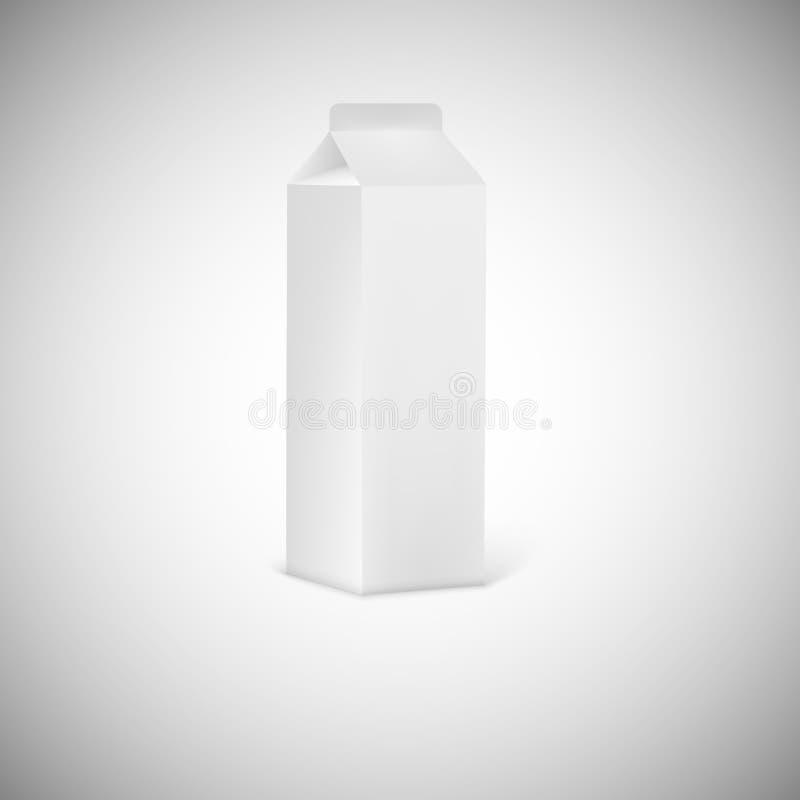 空白灰色汁液或牛奶包装 皇族释放例证