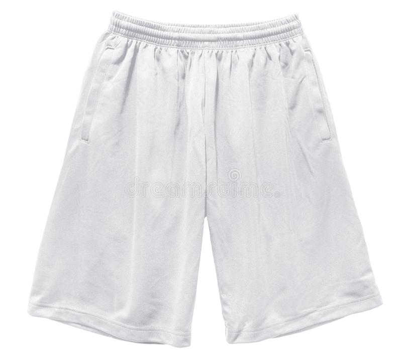 空白炫耀短裤颜色白色正面图 免版税图库摄影