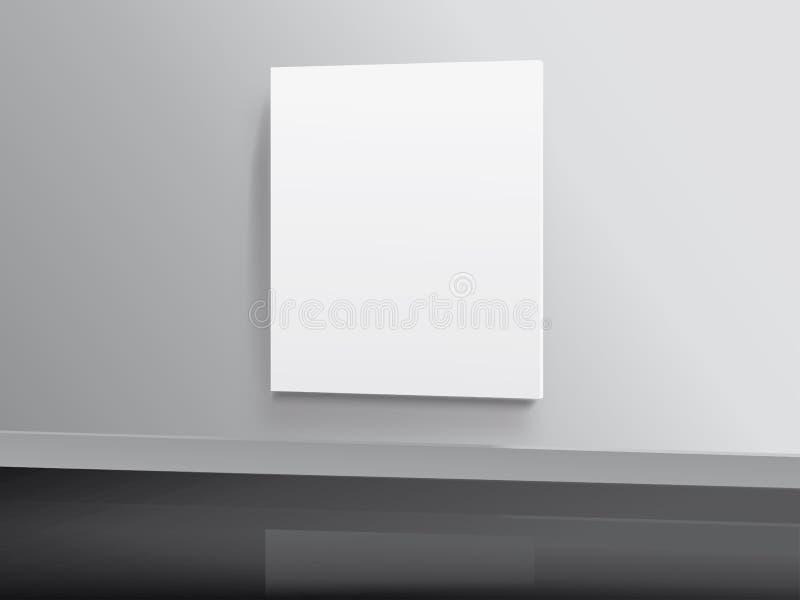 空白照片墙壁 皇族释放例证