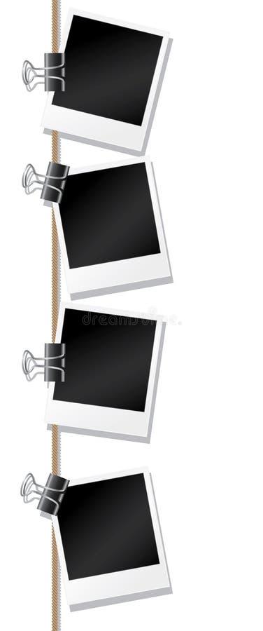 空白照片 皇族释放例证