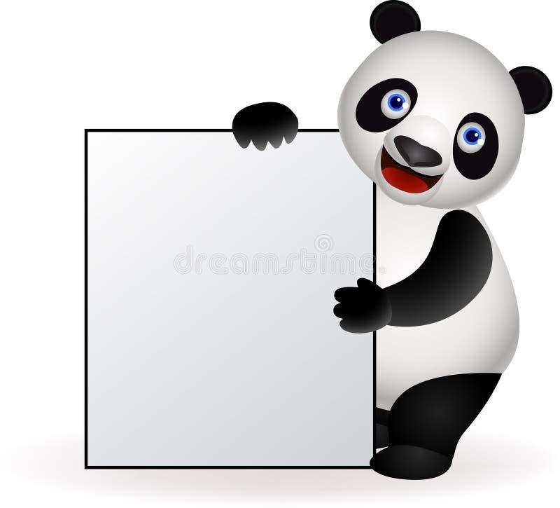 空白熊猫符号 向量例证