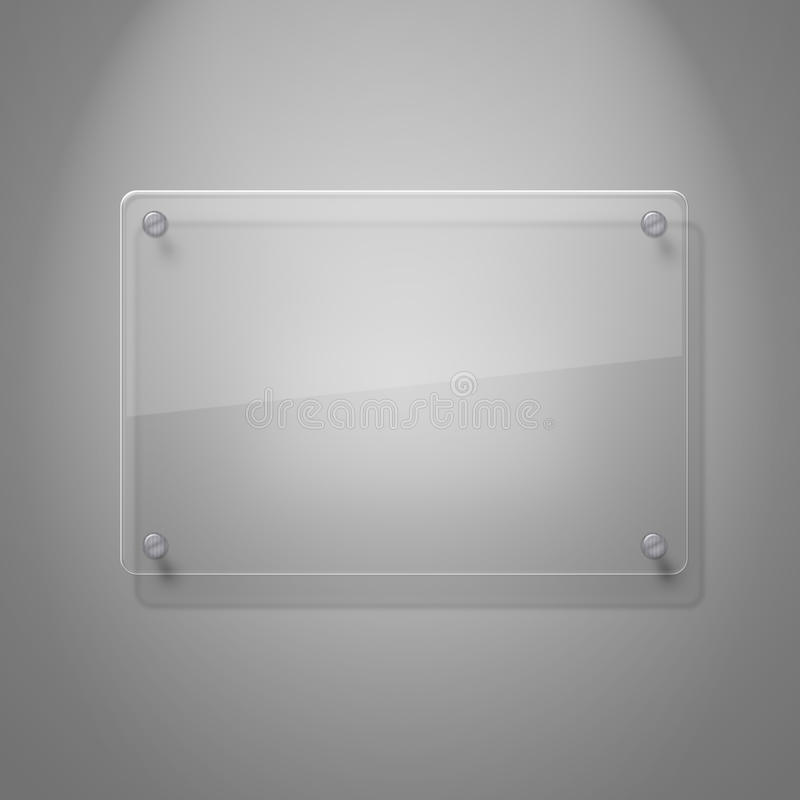 空白玻璃板 库存例证