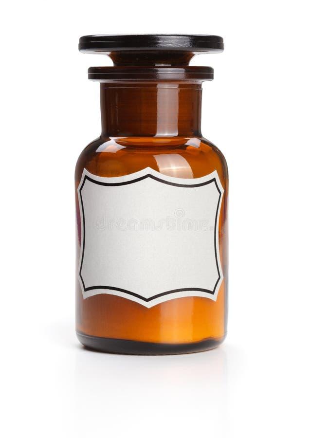 空白瓶化工化学标签 图库摄影