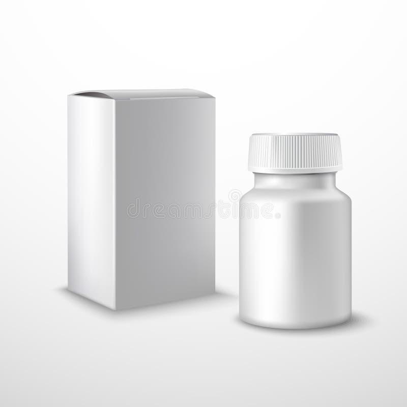 空白瓶医学 库存例证
