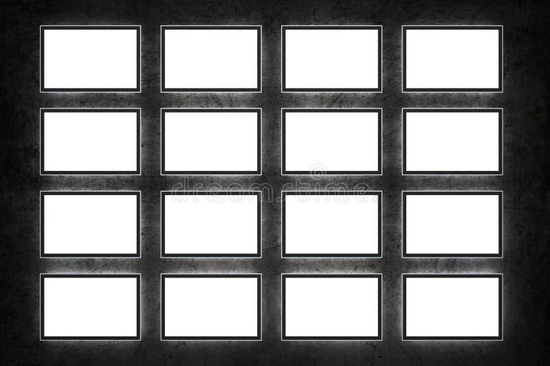 空白电视 库存例证