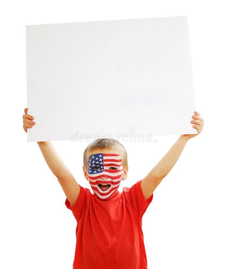 空白男孩藏品纸张海报空白年轻人 库存照片