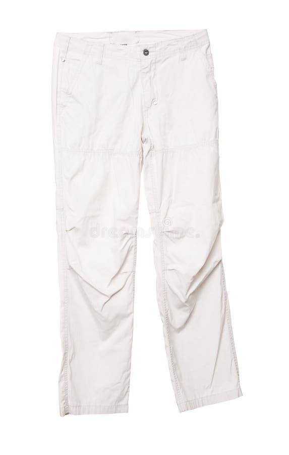 空白男性的裤子 免版税库存照片