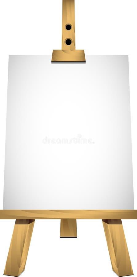 空白画架纸张页白色 皇族释放例证